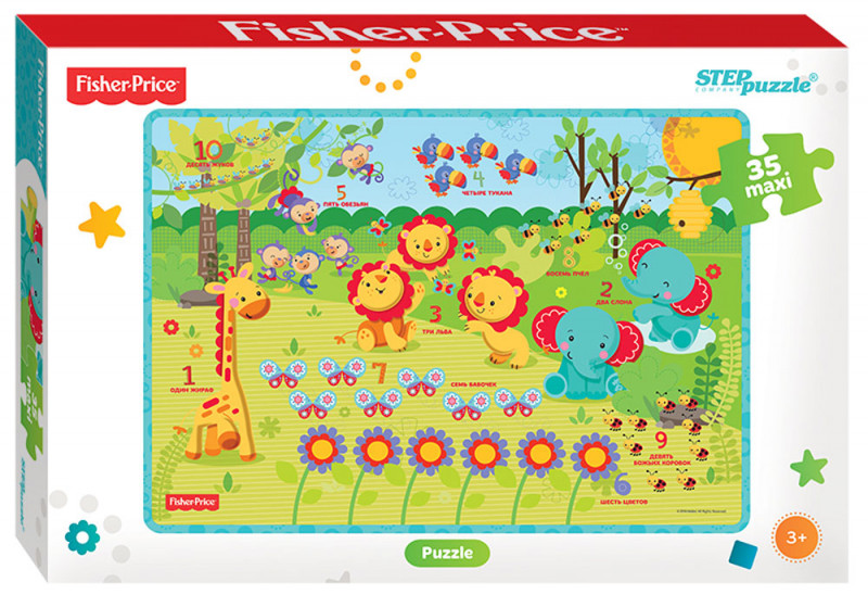 "Ст.91224 Пазл Maxi 35 ""Fisher Price@ (Mattel)"